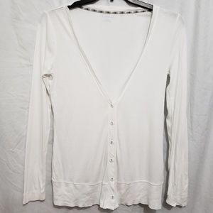 Land's End white cardigan, Small (6-8)